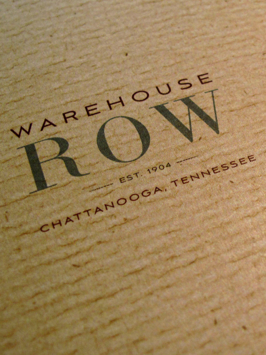 Warehouse Row folder cover detail