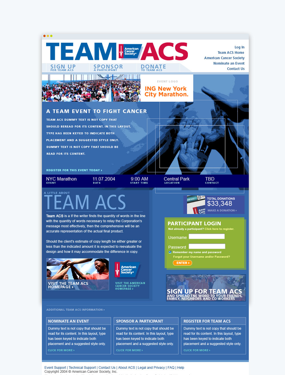 non-profit-fund-raising-american-cancer-society-team-ACS-donation-page