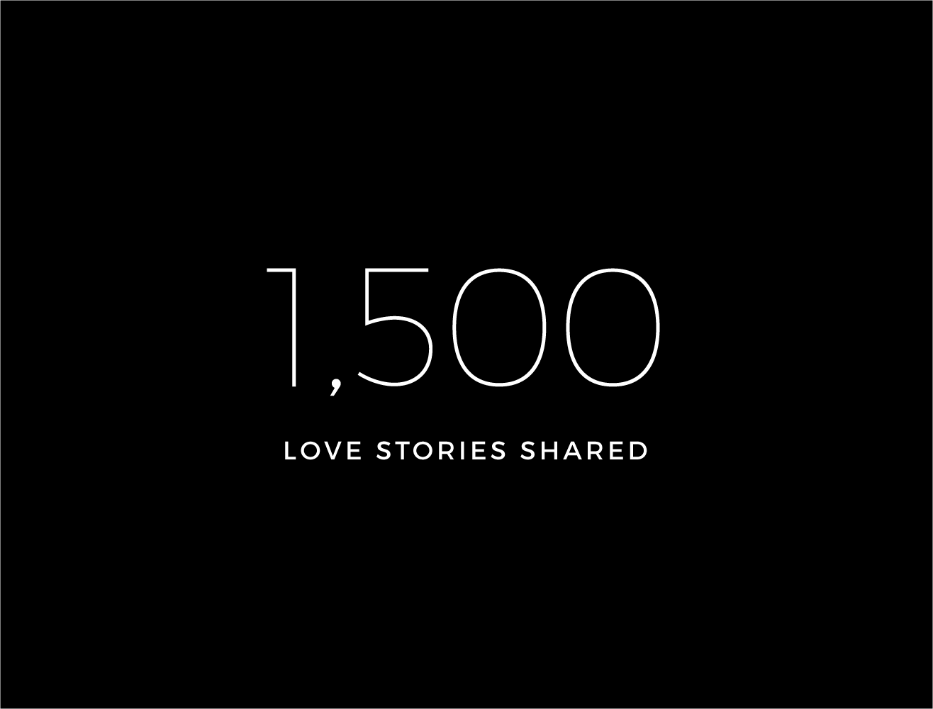 1,500 love stories shared