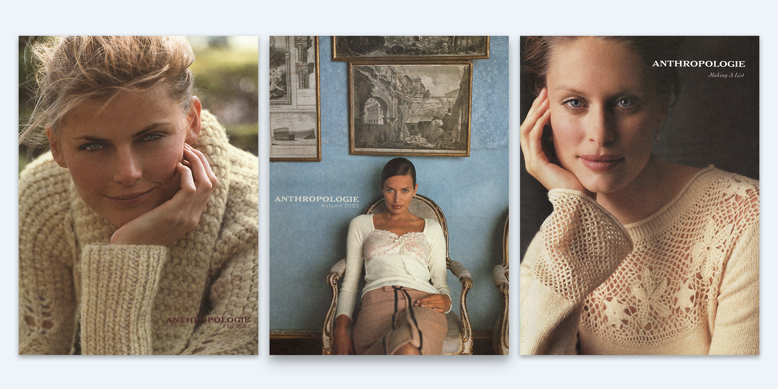 Anthropologie catalog covers