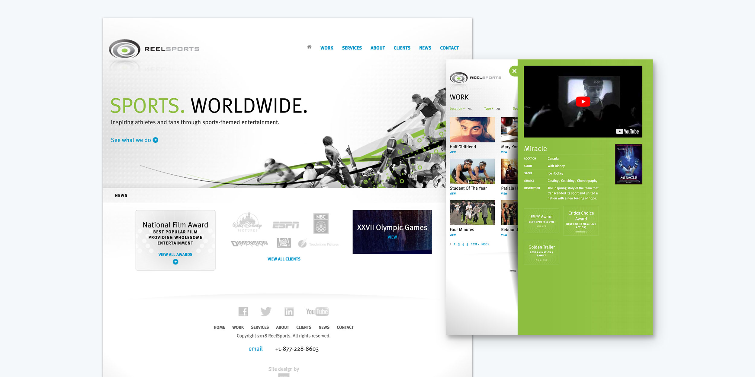 ReelSports website design